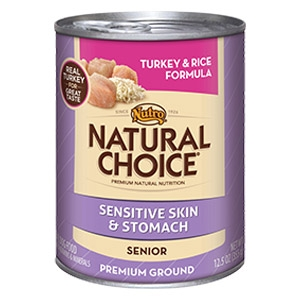 Natural Choice® Sensitive Skin & Stomach Senior Turkey & Rice Premium Ground Formula Dog Food