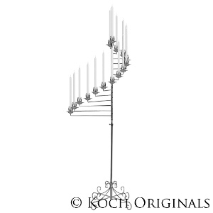 15-Light Spiral Candelabra - Nickel