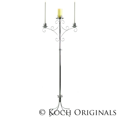 Convertible Unity Candelabra - Nickel