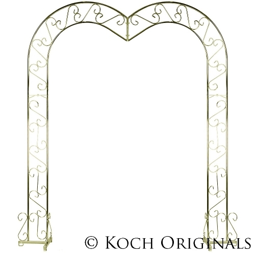 Brass Heartshaped Wedding Arch