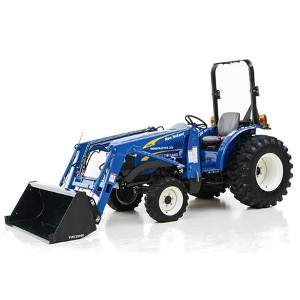 New Holland Tractor with Loader Bucket