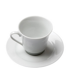 Classic White Rim Footed Cup- 8 oz