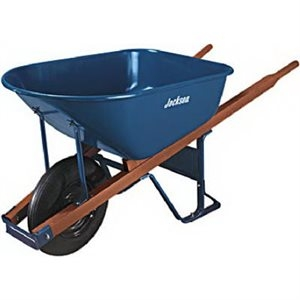 Jackson Professional 6-Cu. Ft. Heavy-Duty Steel Wheelbarrow