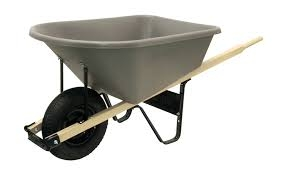 8 CF Poly Wheelbarrow