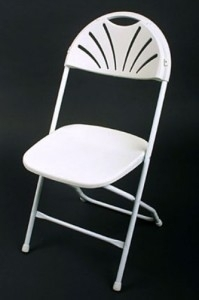 Chair, White Samsonite
