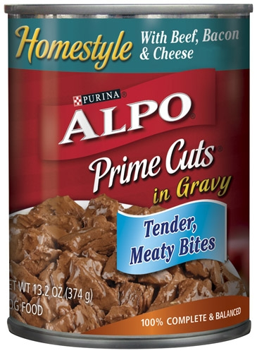 Alpo Canned Dog Prime Cuts Beef/Bacon/Cheese 24/13.2 oz. Pack