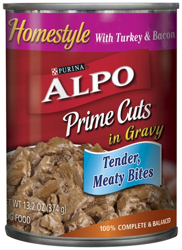 Alpo Canned Dog Prime Cuts Turkey & Bacon 24/13.2 oz Pack