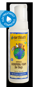 Earthbath Hypoallergenic Grooming Foam for Dogs 7.5 oz.