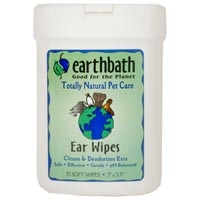 Earthbath Grooming Wipes Ear Wipes 25 Ct.