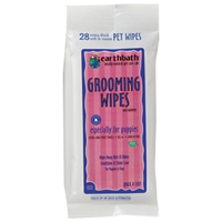 Earthbath Grooming Wipes Puppy Grooming Wipes 28 Ct. Travel Pack