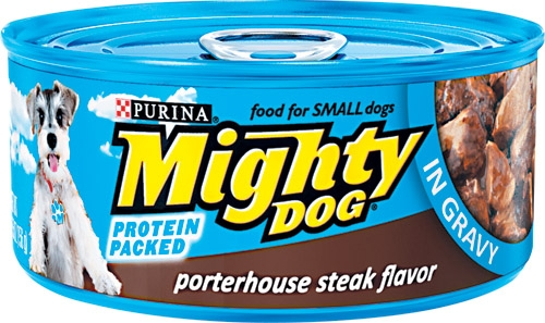 Mighty Dog Porterhouse Steak Flavor in Savory Sauce 24/5.5 oz.