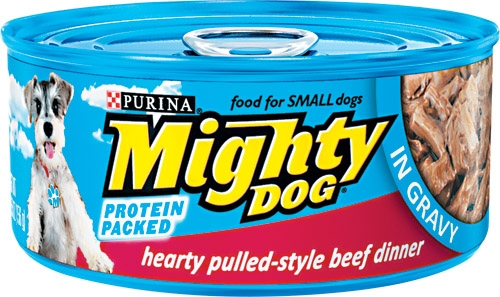 Mighty Dog Hearty Pulled-Style Beef Dinner in Gravy 24/5.5 oz.