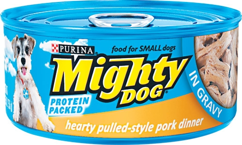 Mighty Dog Hearty Pulled-Style Pork Dinner in Gravy 24/5.5 oz.