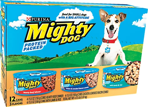 Mighty Dog Boss Dog Dinners Variety Pk 2-12/5.5 oz. - 4 Each Beef, Chicken/Bacon, Lamb/Rice