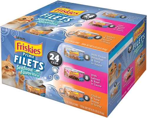 Friskies Prime Filets Surf Collection Pack 24/5.5 oz.