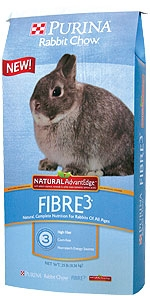 Rabbit Chow Fibre3 Natural AdvantEdge 50#
