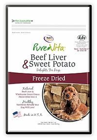 Pure Vita Liver and Sweet Potato Freeze Dried Dog Treats