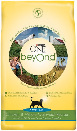 Purina One Beyond Cat Chicken/Oatmeal 5/6lb
