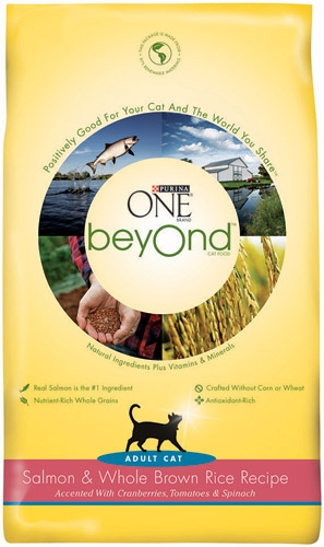 Purina One Beyond Cat Salmon/Brown Rice 6/3lb