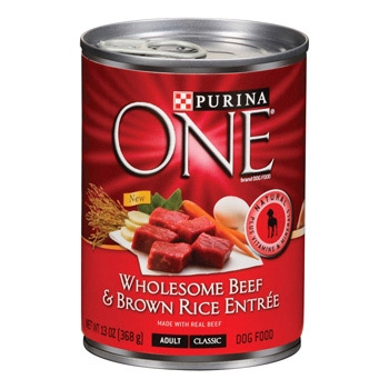 Purina One Canned Dog Beef/Brown Rice