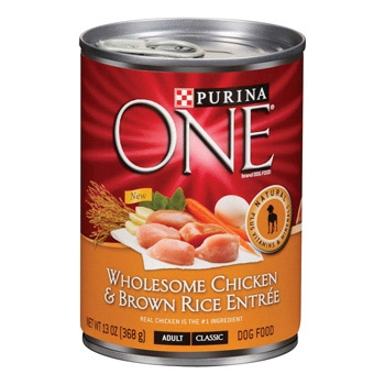 Purina One Canned Dog Chicken/Brown Rice