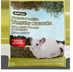 Zupreem Nature's Promise Chinchilla Pellets 3 lb. Pouch