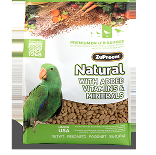 Zupreem Natural Medium/Large - Parrot & Conure, 20 Lb