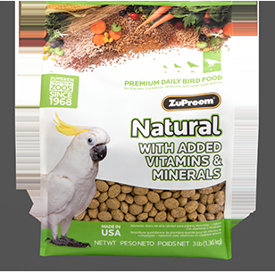 Zupreem Natural Large Bird 3 Lb Pouch