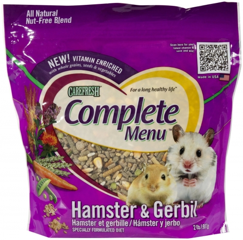 CareFRESH Complete Menu Hamster/Gerbil 6/2#