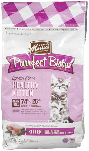 Purrfect Bistro Grain Free Healthy Growth Recipe 4lb Cat