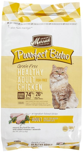 Purrfect Bistro Grain Free Healthy Adult Chicken Recipe 12lb Cat