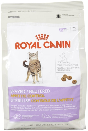 Royal Canin Spayed/Neutered Appetite Control Cat 2.5 lb