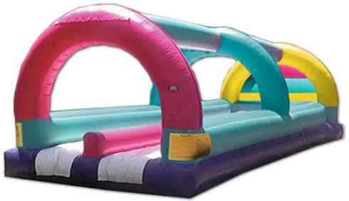 Inflatable Surf 'n Slide Double Track with Arches