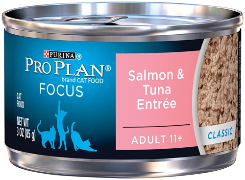 Pro Plan Senior 11+ Salmon/Tuna Cat Can 24/3oz