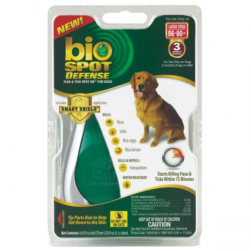 Bio Spot® Defense Flea & Tick Spot On® for Dogs 56-80 lbs. (3M SS) LARGE
