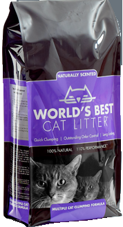 World's Best  Cat Litter-Scented Multiple Cat Clumping Formula