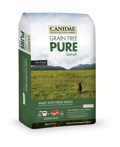Canidae Grain Free Pure Land with Fresh Bison 24 lbs