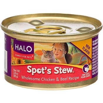 Halo Spot's Stew® for Cats, Wholesome Chicken and Beef  Recipe 12/3 oz.