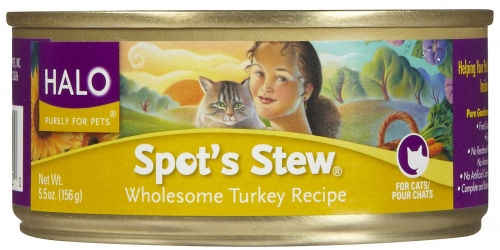 Halo Spot's Stew For Cats Wholesome Turkey 12/5.5 oz.