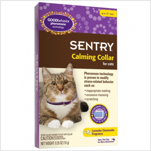 "Sergeant's Sentry HC Good Behavior Cat Pheromone Collar up to 15"" Neck"
