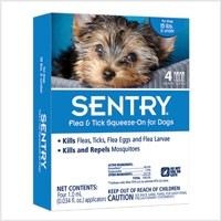 Sergeant's Sentry Natural Defense Flea & Tick Squeeze-on for Dogs/Puppies under 15lbs