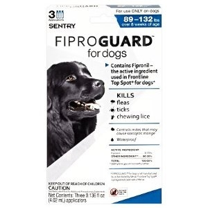 Sergeant's Fiproguard Flea & Tick Squeeze-On for Dogs 89-132lbs