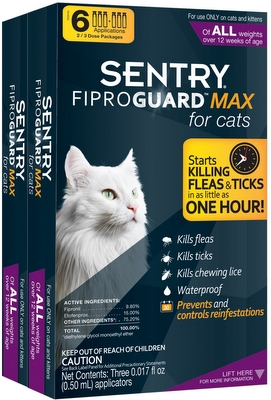 Fiproguard Max Cat Purple 2-3Pk