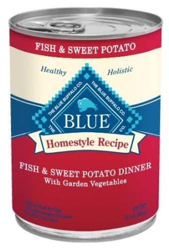 Blue Buffalo Homestyle Recipes  Fish/Sweet Potato Dog 12/12.5OZ