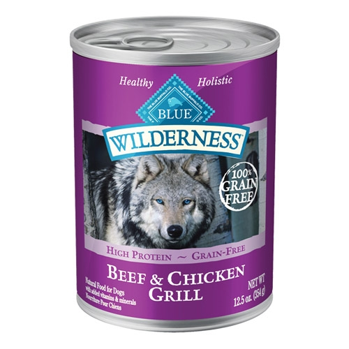 Blue Buffalo Wilderness Beef/Chicken Dog 12/12.5OZ