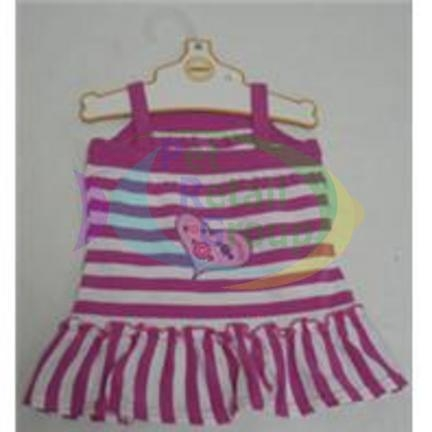 "Ethical ""Yummy"" Striped Dress Pink Xxsmall"