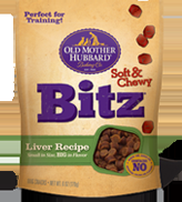 Old Mother Hubbard Soft Distinctive Soft & Chewy Bitz Liver Recipe 8/6 oz.