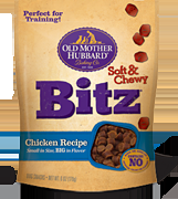 Old Mother Hubbard Soft Distinctive Soft & Chewy Bitz Chicken Recipe 8/6 oz.