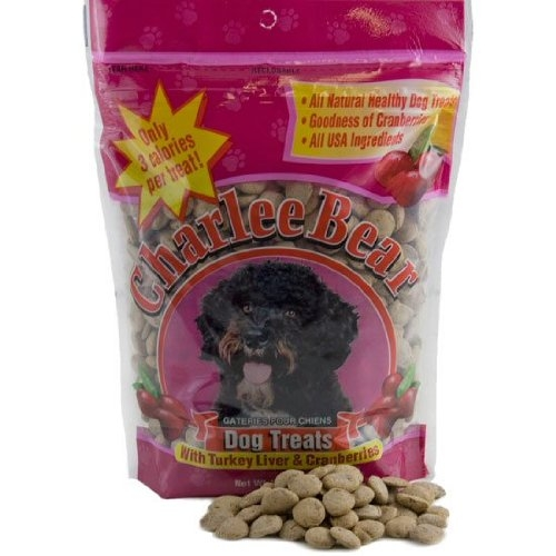 Charlee Bear Turkey Liver & Cranberry Dog Treats 16 oz