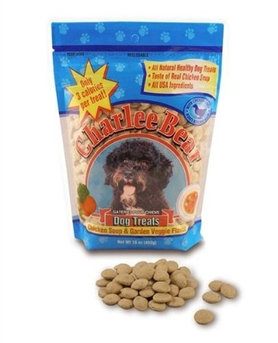 Charlee Bear Chicken Soup & Garden Vegetable - Dog Treats - 16 oz. **Each